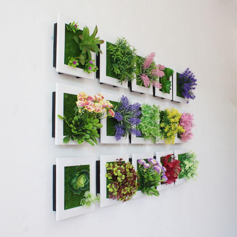Creative 3D plantes artificielles maison autocollant mural décorations résine fleur salon magasin ornement accessoires livraison gratuite