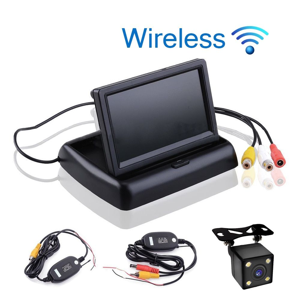 Car Styling Wireless 4.3 inch TFT LCD Screen Car Monitor Display for Rear View Reverse Backup Camera Car TV Display Wifi
