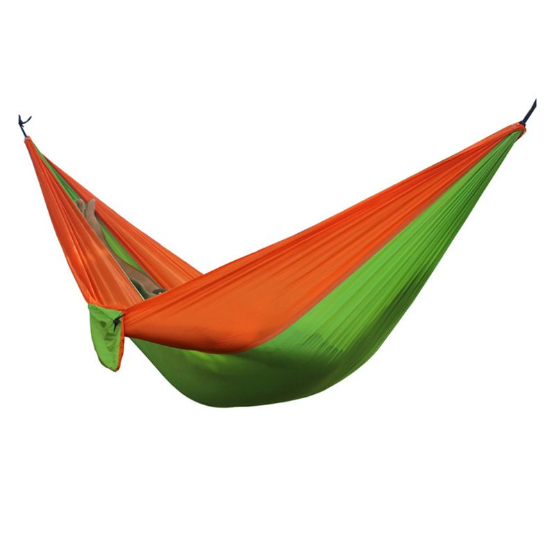 2 People Portable Parachute Hammock for outdoor <font><b>Camping</b></font> 270*140 cm 17 Colors