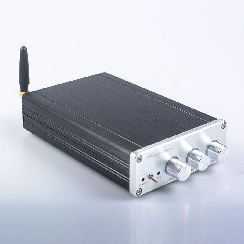 Бриз аудио ba10c tpa5613 HiFi 2.1 Bluetooth 4.0 75 Вт * 2 + 150 Вт сабвуфер цифровой аудио Мощность Усилители домашние алюминий Усилители домашние DC18-32V