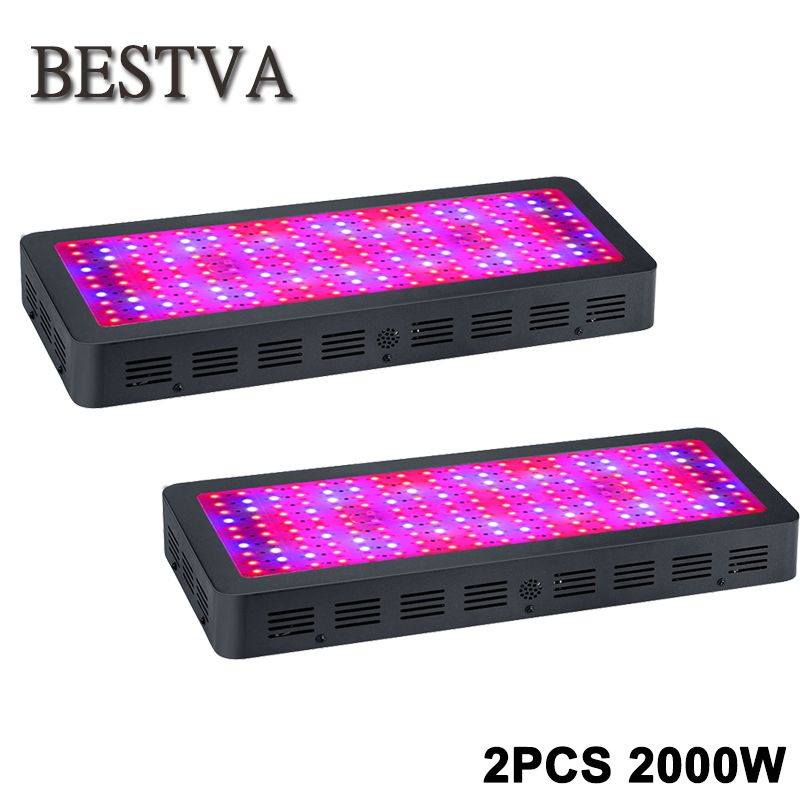 2pcs/lot Led grow light 2000W full spectrum led bulbs for Plants seeding flowering growing indoor greenhouses 3years