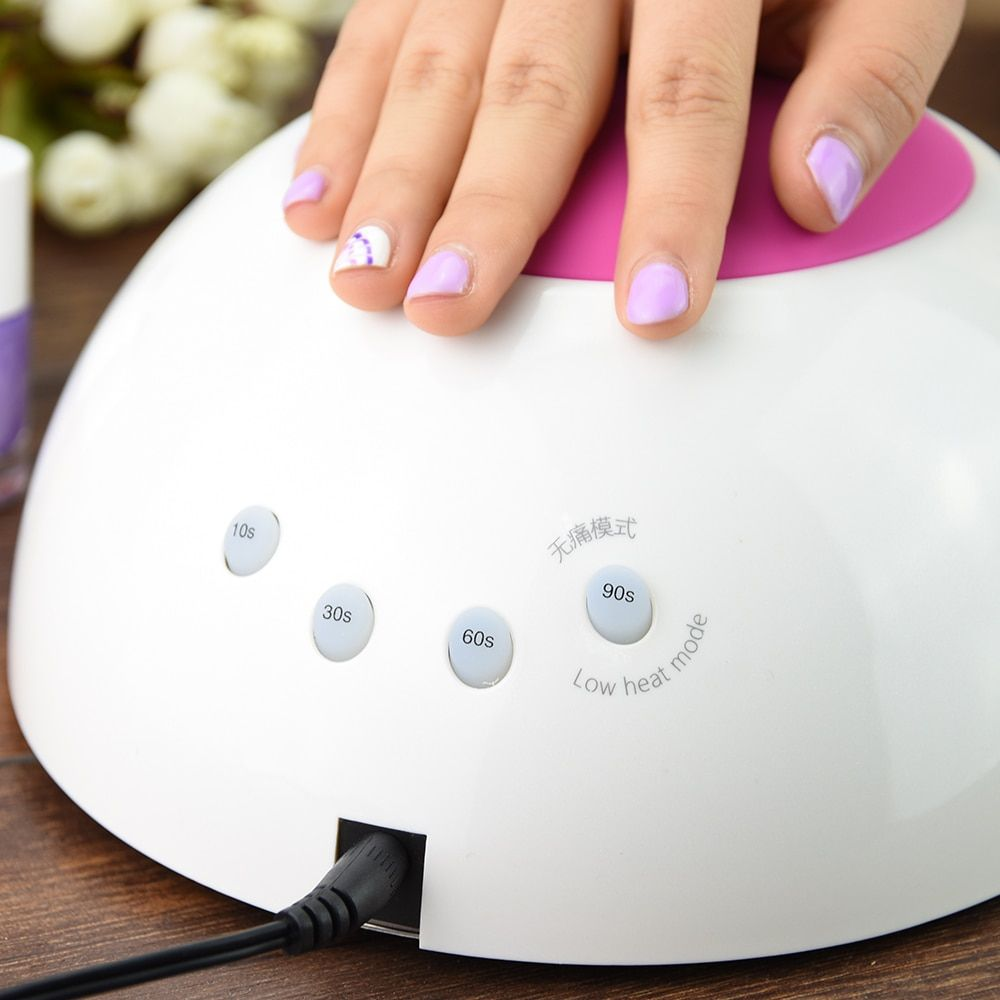 SUNUV SUN2 LED Lamps Nail 48W Nail Dryer Professional Nail UV Lamp <font><b>Rose</b></font> Silicon Pad For Nail Gel Polish with Sensor