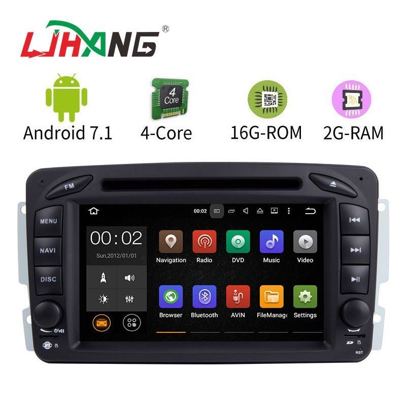 LJHANG 7 Inch Android 7.1 Car DVD Player For Mercedes Benz W209 W203 W168 W163 W463 Viano W639 Vito Vaneo Multimedia GPS Radio