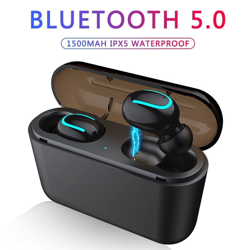 Bluetooth écouteurs TWS sans fil Bluetooth 5.0 écouteurs mains libres casque sport écouteurs jeu casque téléphone PK HBQ