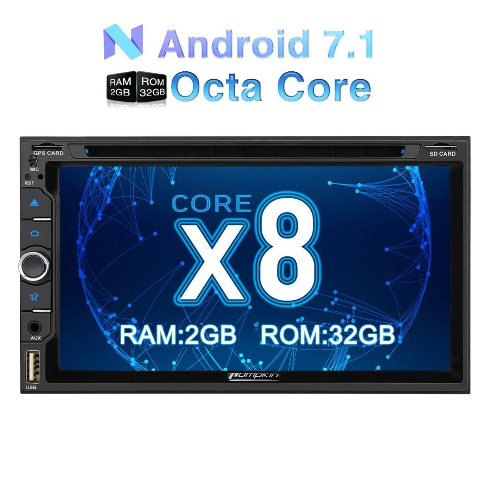 Kürbis 2 Din 6,95 ''Android 7.1 Univeral Auto DVD Player GPS Navigation Touchscreen Auto Stereo FM Rds Radio Wifi 3g Steuergerät