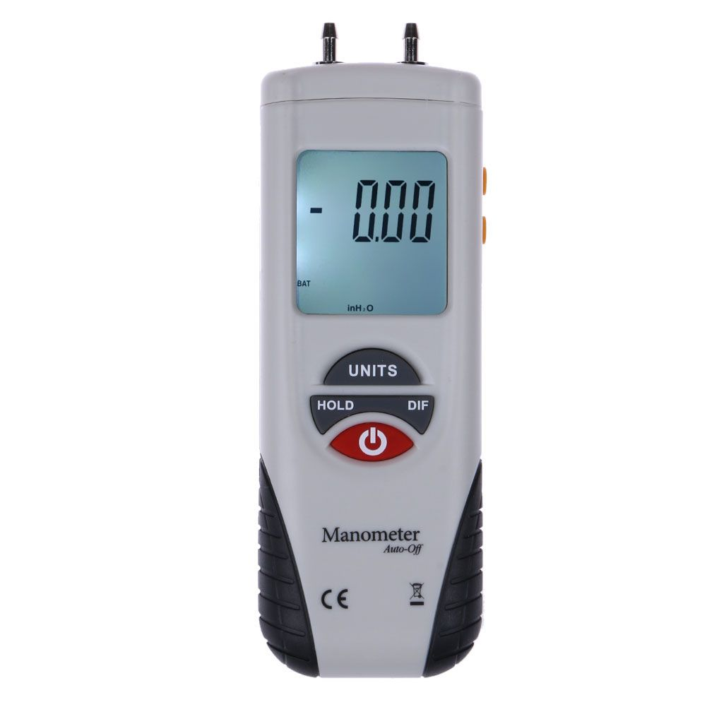 1 pcs LCD Digital Manometer Differential Air Pressure Meter Gauge 11 Selectable Scales Units 2Psi 13.79Kpa Tester Tools