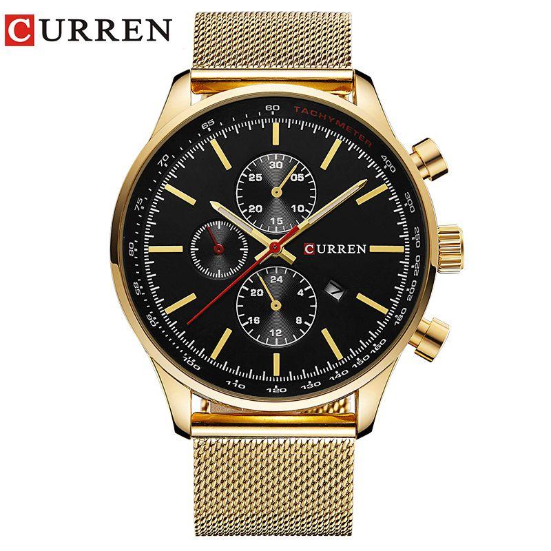 CURREN Watch Men Fashion Casual Full Sports Watches Relogio Masculino <font><b>Business</b></font> relojes Quartz watch 8227