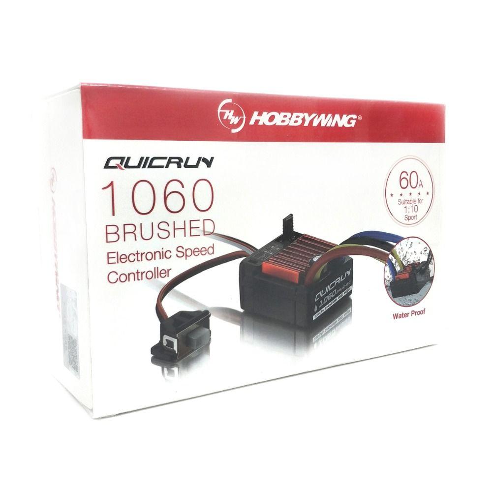 HobbyWing QuicRun brossé 1060 60A régulateur de vitesse électronique ESC 1060 avec interrupteur Mode BEC pour voiture 1:10 RC