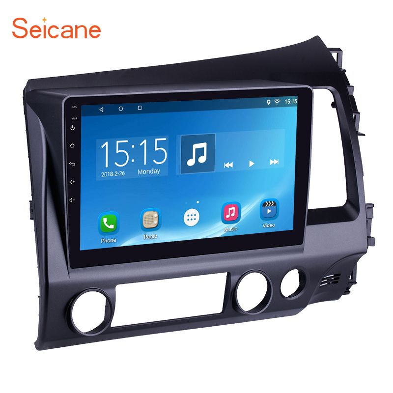 Seicane 10.1 inch Quad-core Rom 16GB Android 6.0 Car Radio Unit GPS Navigation Player for 2006-2011 HONDA CIVIC Right Hand Drive