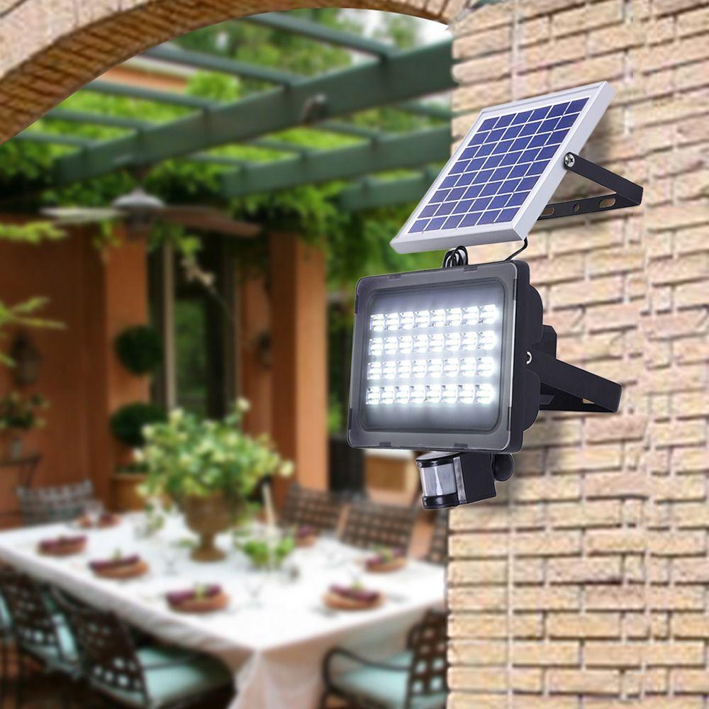 12/24 v 10 w 20 w 30 w 50 w lumière solaire PIR motion sensor led projecteur solaire puissance avec panneaux solaires pour le jardin solaire lumière led