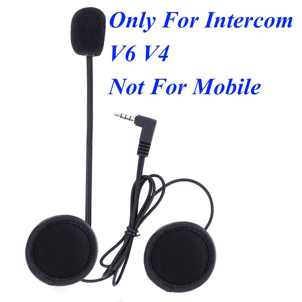 V6 intercom and V4 interphone accessories 3.5mm Jack Plug Earphone Stereo Suit for V6 V4 Bluetooth Intercom Motorcycle moto v6