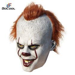 Stephen King Ini Pennywise Masker Lateks Halloween Menakutkan Masker Cosplay Badut Pesta Topeng Prop
