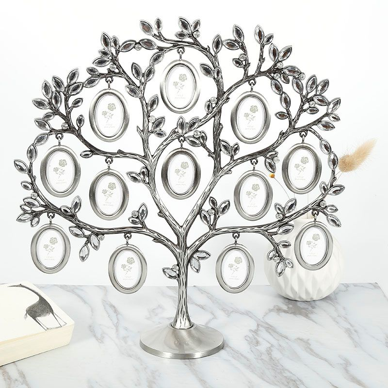 30*30cm Family Tree Hanging Photo Picture 12 Frame Holder Table Top Desk Display Decor Newest Creative Fashion