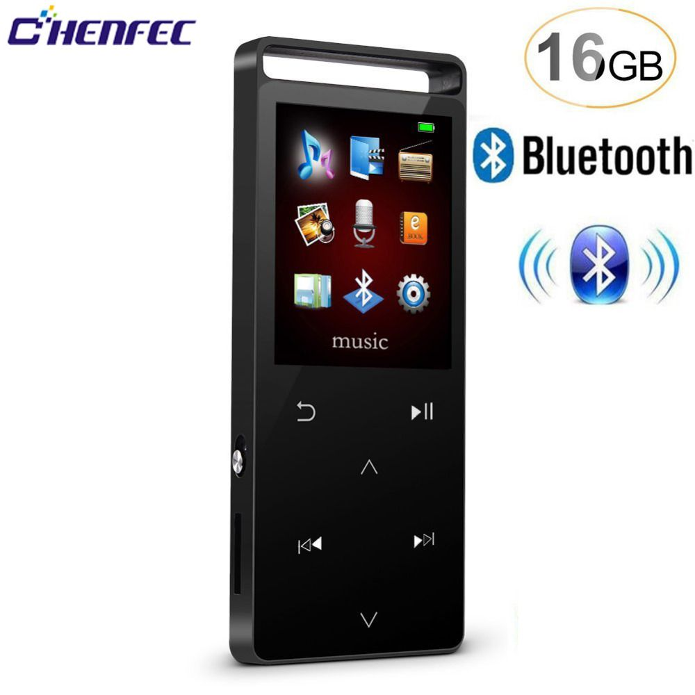Mp3 player Fm Bluetooth with 16GB 8GB sound Player Sport Pedo Meter mp3 music player FM video clock support 32gb SD Card player