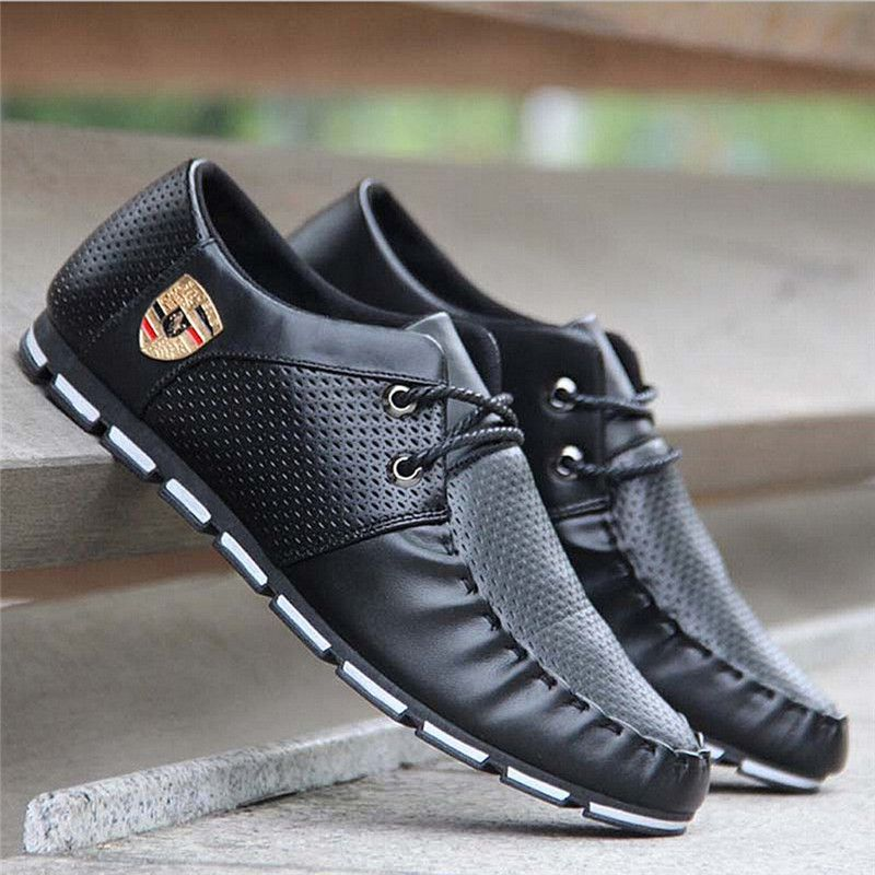 Men Walking Shoes SpringMen Sneakers Outdoor Flats Shoes Lace Up  Breathable Mesh Male Jogging Shoes Sneaker CU935235