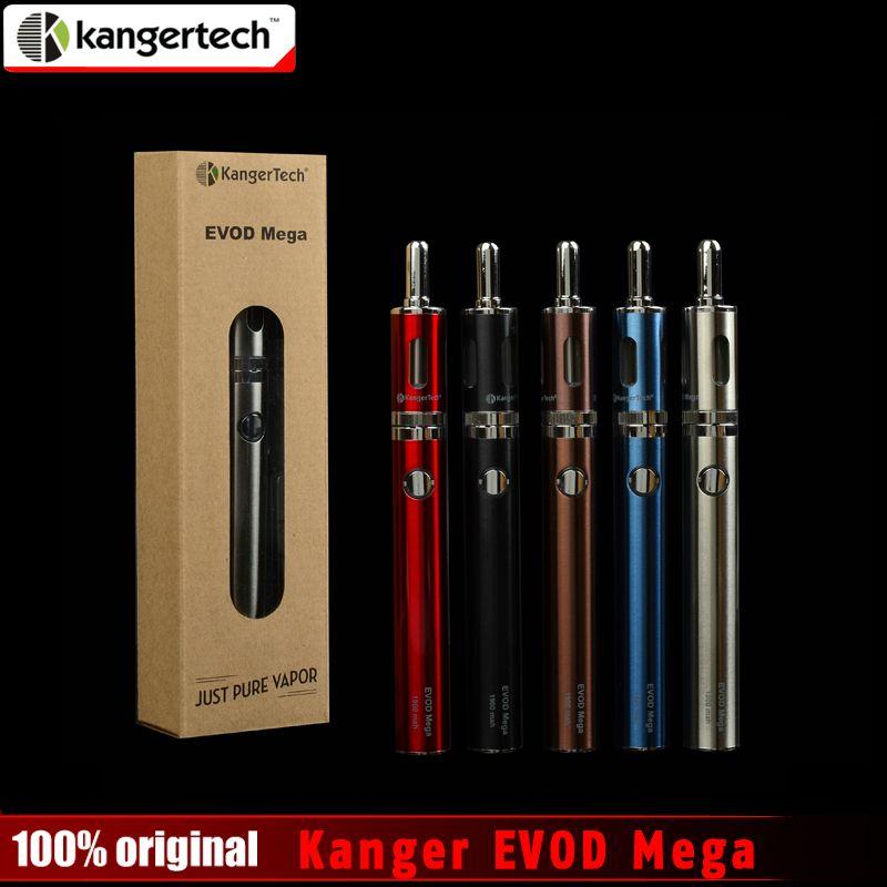 100% Original Kangertech Evod Mega Kit 2.5ml 1900mah Battery with Micro USB Cable Evod Mega Electronic Cigarette Starter Kits
