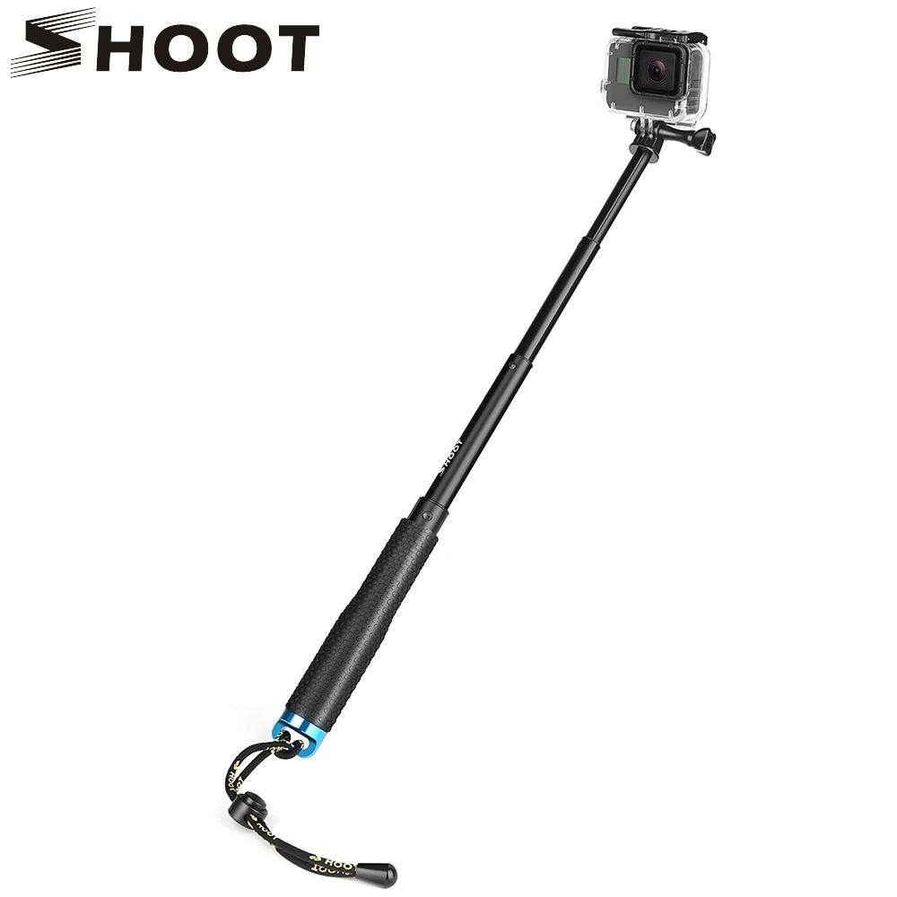 TIRER 19-49 cm Portable Selfie Bâton Étendre Monopode Pour Gopro Hero 7 5 6 Session Xiaomi Yi 4 k SJCAM SJ4000 SJ5000 Eken h9 Caméra