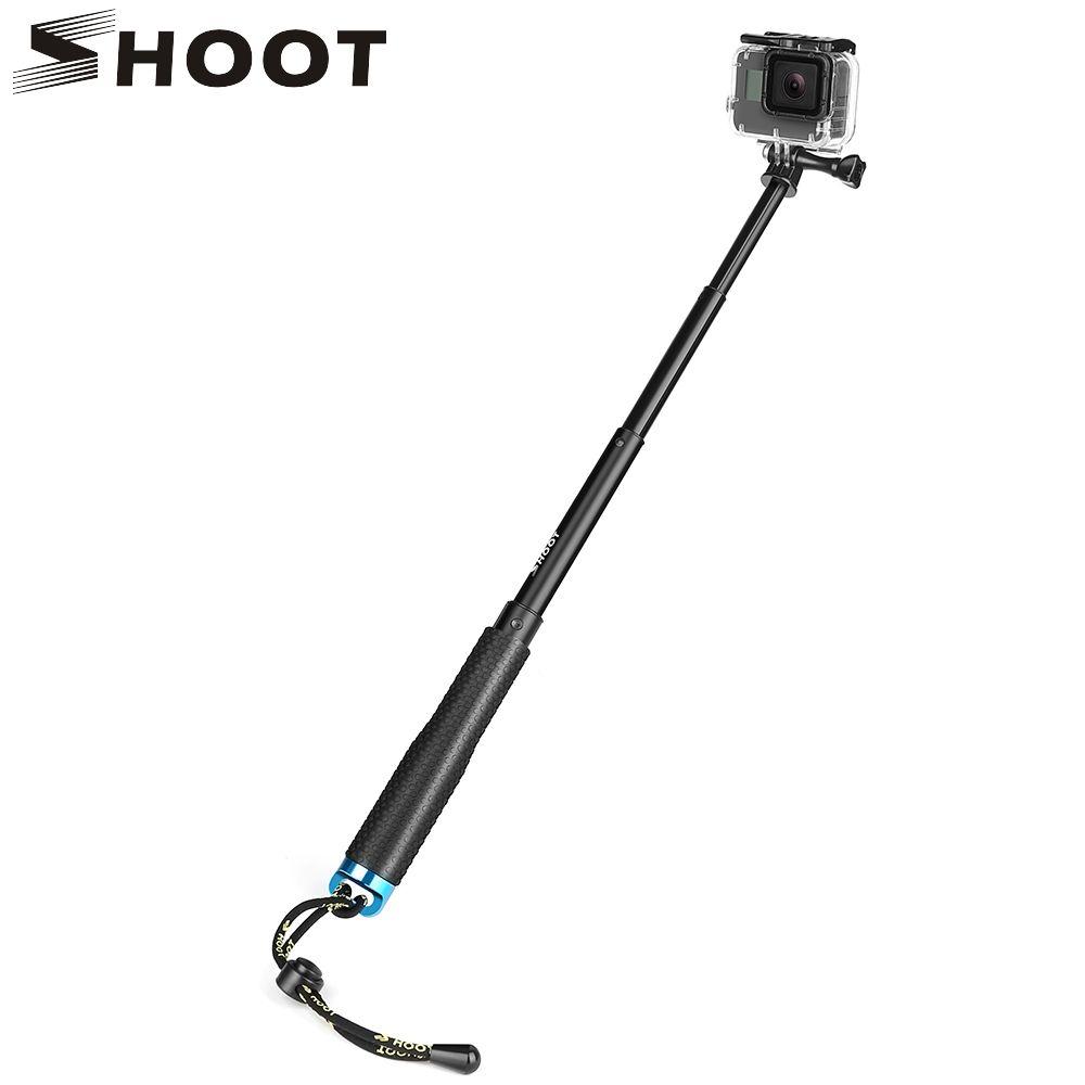 Tirer 20-52cm Portable Selfie bâton prolonger monopode pour Gopro Hero 7 8 5 Session Xiaomi Yi 4K SJCAM SJ4000 SJ5000 Eken h9 caméra