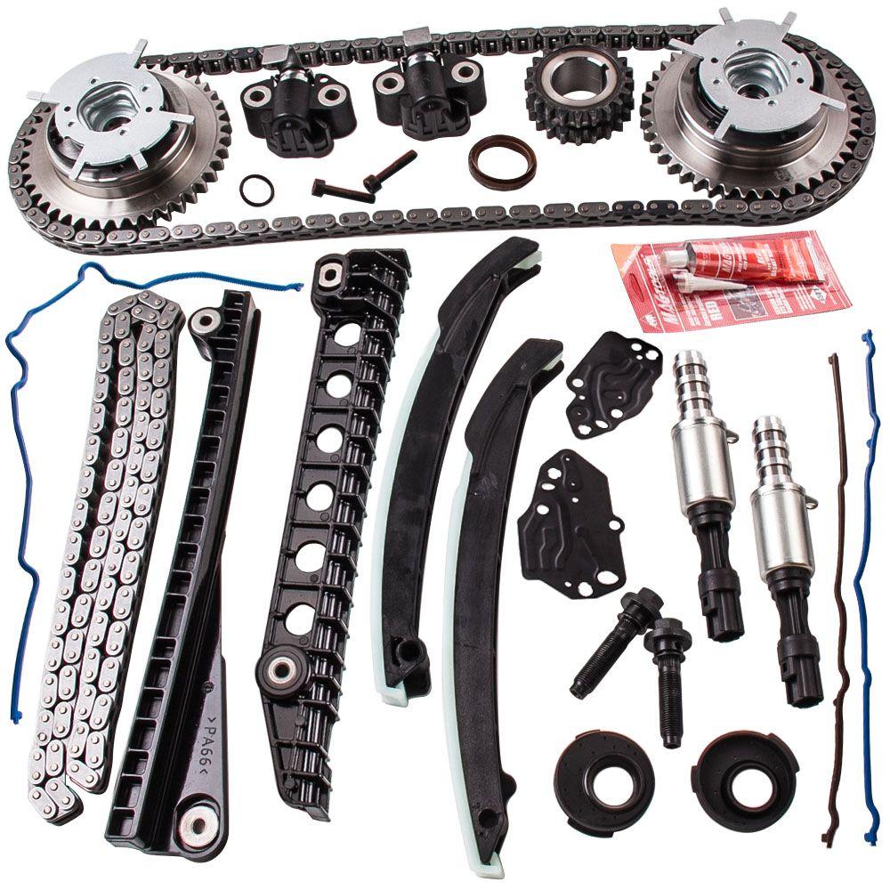 Für 04-10 Ford 5,4 TRITON 3-Ventil Timing Kette Kit + Cam Phaser + Abdeckung Dichtung für f150 F250 F350 5,4 TRITON 3-Ventil tct