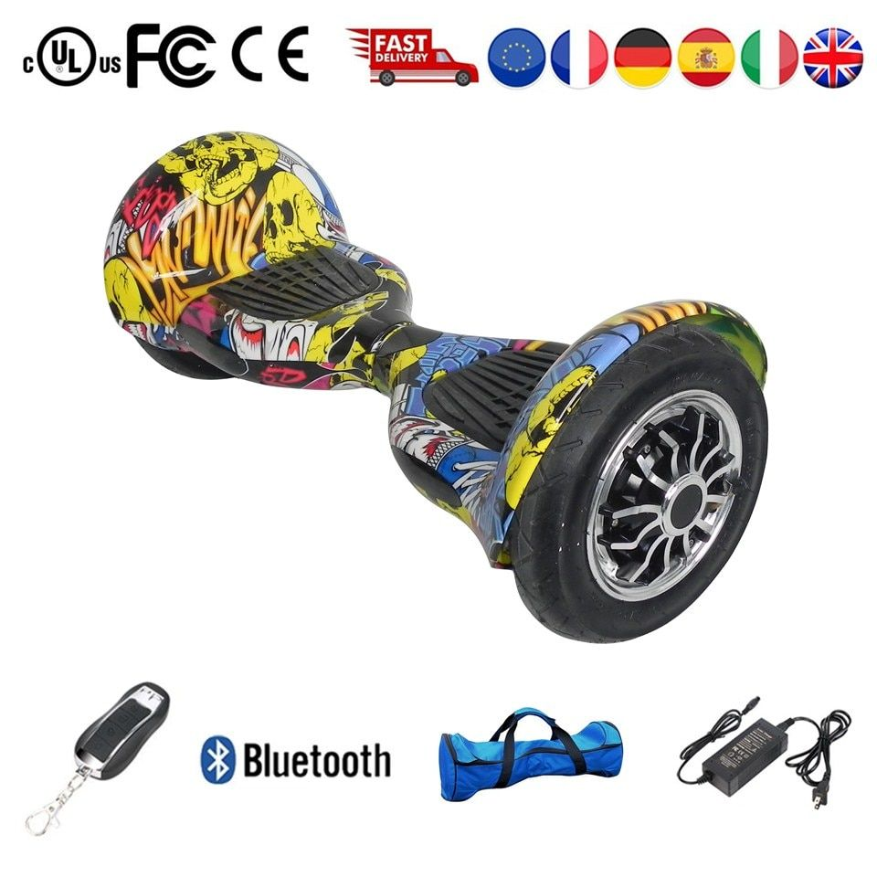 Erwachsene Kind Elektrische Roller Skateboard Hoverboard 10 zoll 36 v Lithium-Batterie 10 zoll Solide Reifen Oder Pneumatische Reifen Kostenloser schiff