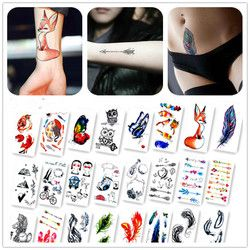 Nueva etiqueta engomada temporal impermeable del tatuaje colorido mariposa tatuaje agua transferencia tatuaje