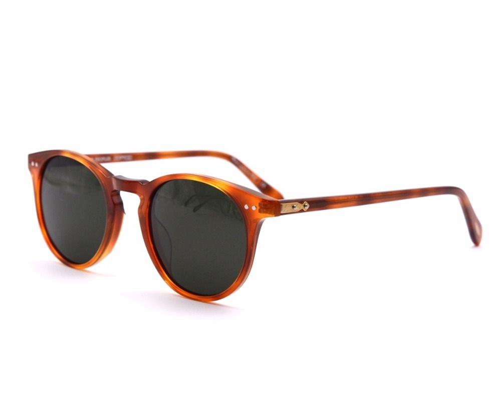 Vintage designer brand Men's ov5256 Sir O 'malley polarized sunglasses Retro Male Driving Outdoor Women Sun Glasses With Case