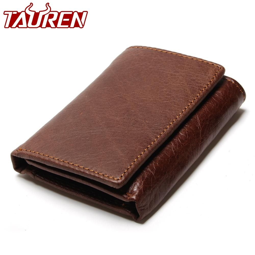 RFID Wallet Antitheft Scanning Leather Wallet Hasp Leisure Men's Slim Leather Mini Wallet Case Credit <font><b>Card</b></font> Trifold Purse