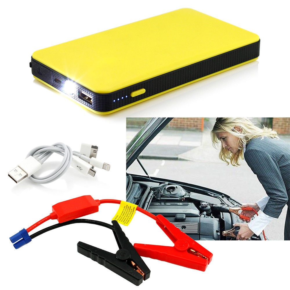 Liplasting 8000mAh Jump Starter Auto Car Power Bank Battery Charger Vehicle External Start Yellow Red Two color