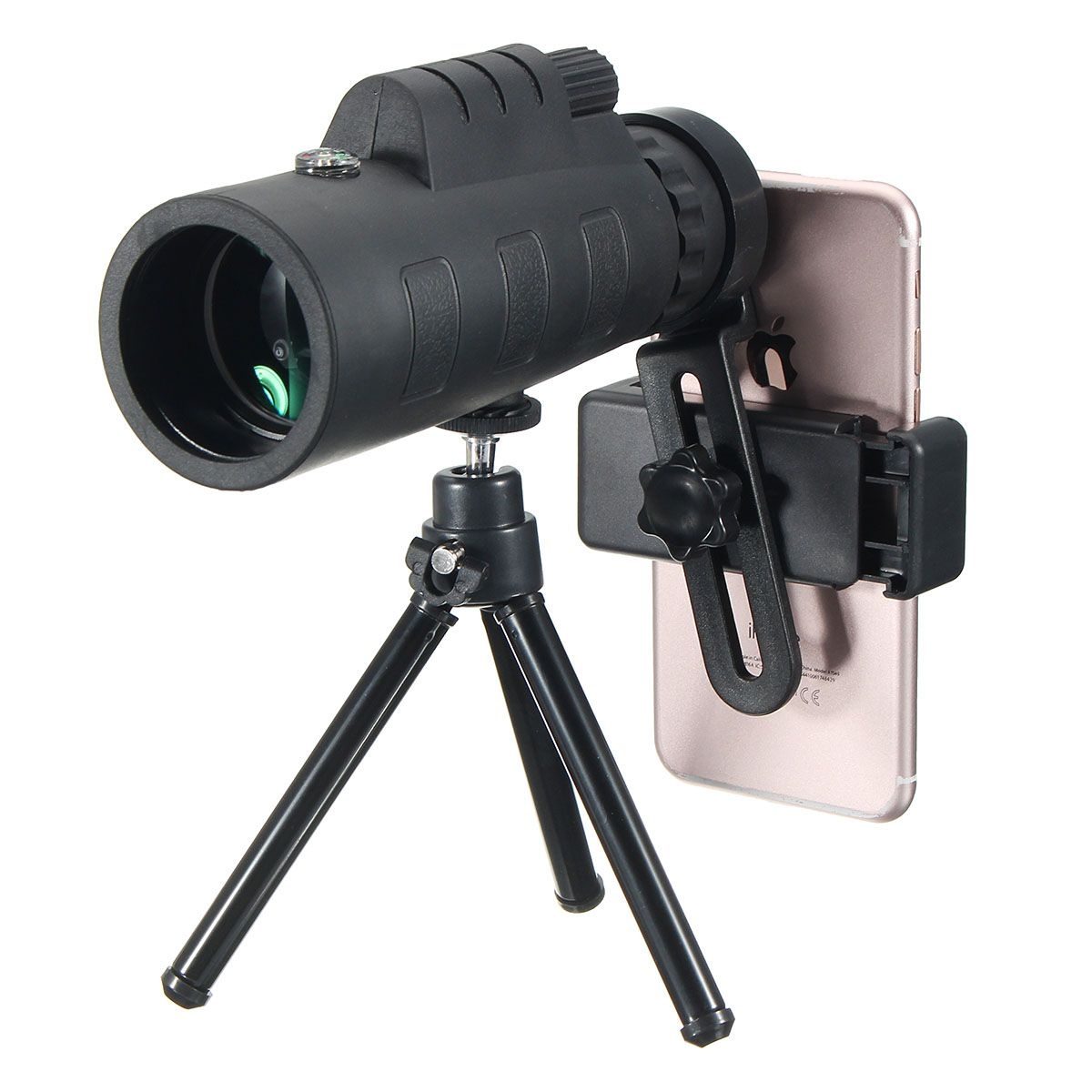 NEW 12X Telescope Monocular Lens Telephoto Lens Camping Outdoor Phone Holder Clip Universal for iPhone Android Mobile Phones