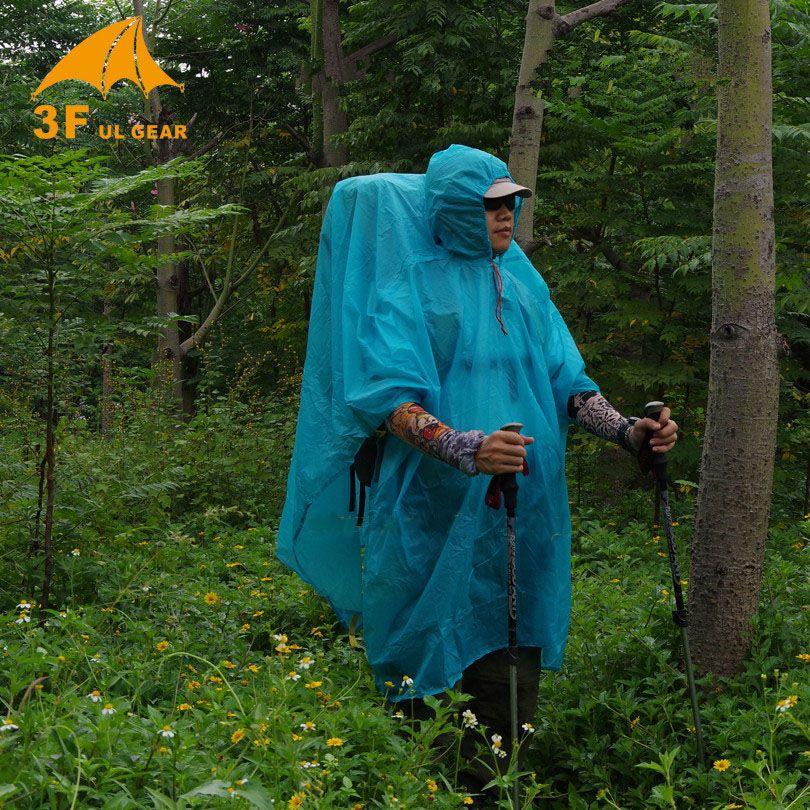 3F Ul Single Person Ultralight Hiking Cycling Raincoat Outdoor Awning Camping Mini Tarp Sun <font><b>Shelter</b></font> 15D Silicone 210T Taffeta