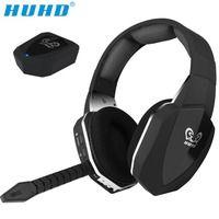 HUHD HW-N8 profesión de sonido envolvente 7,1 estéreo de fibra óptica 2,4g inalámbrico de auriculares para juegos para Xbox 360 PS4 PC jugador PUBG