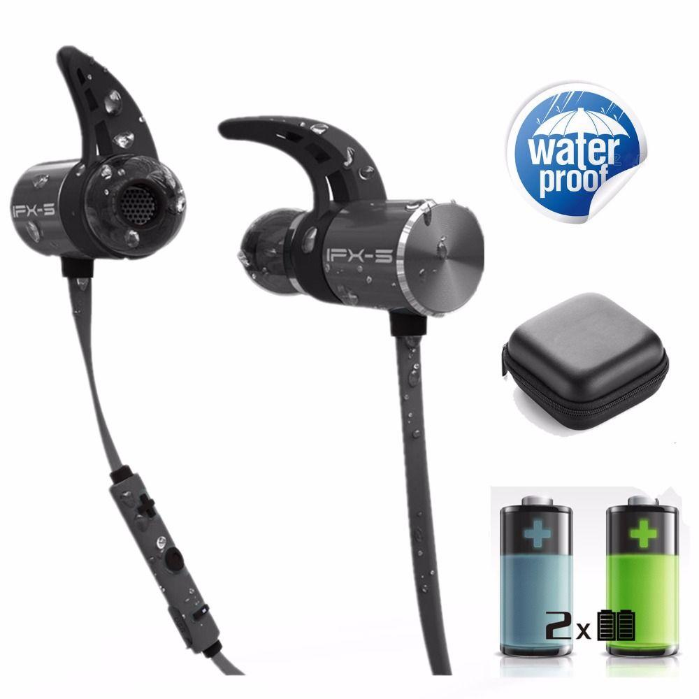 PLEXTONE BX343 double battery V4.1 magnetic wireless bluetooth earphone sport waterproof headset endurance metal music headphon