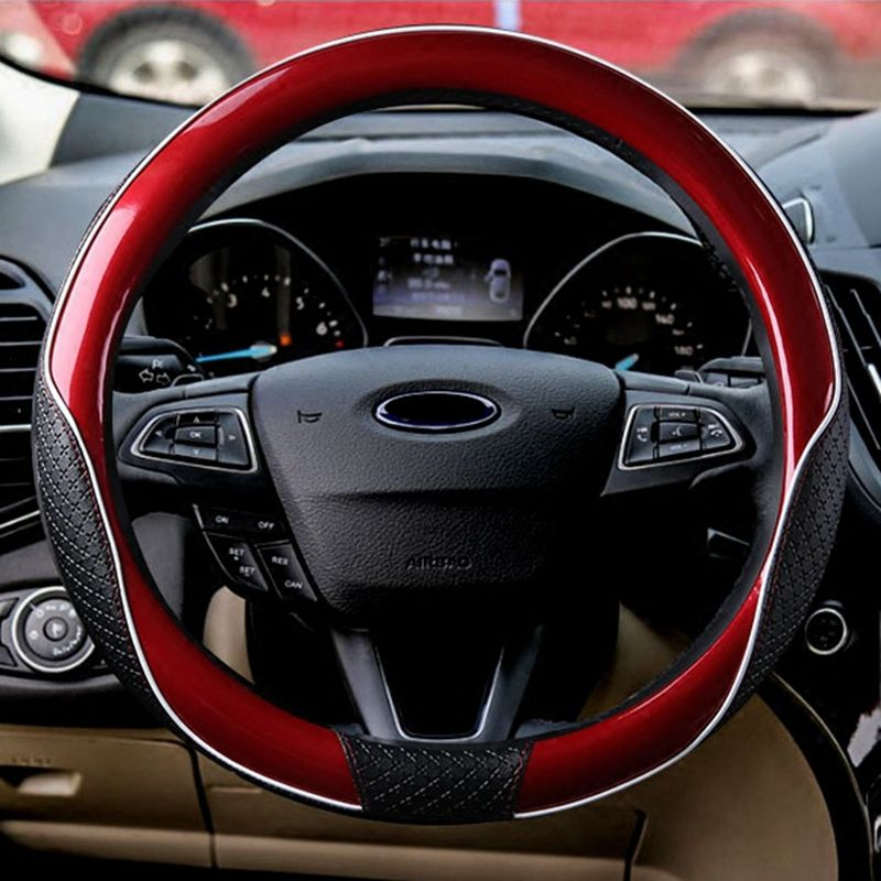New Leather Steering Wheel Cover Universal 35/36/37/38/39/40cm Protect handle For BMW Ford Focus 2 VW Jeep Grand Cherokee Toyota