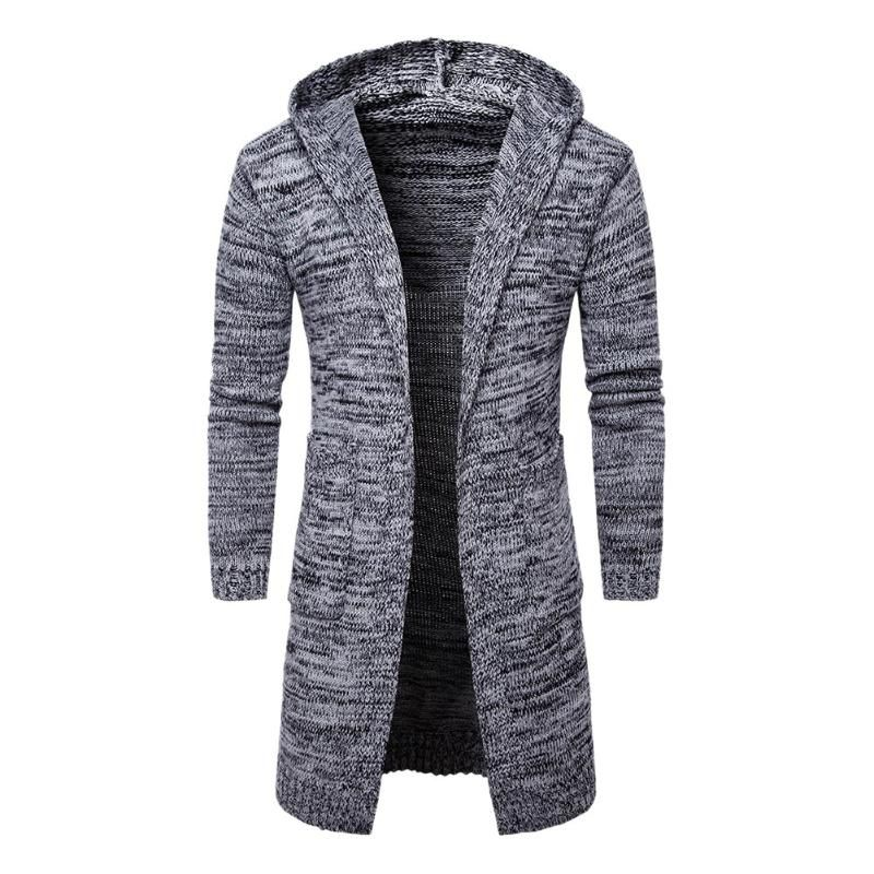 2018 Fashion Men Winter Sweater Male Hooded  Cardigan Long Sleeve Sweaters Casual Korean Style Hooded Cardigans