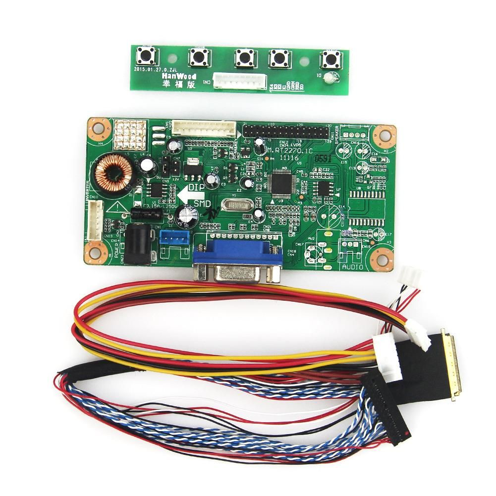 M. RT2270 LCD/LED Controller Driver Board (VGA) LVDS Monitor Wiederverwendung Laptop 1366x768 Für B156XW02 V.2 BT156GW01 v4