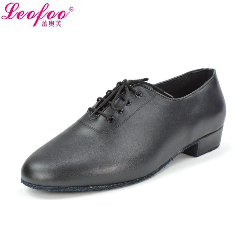 Hombres zapatos de baile Latino zapatos de Jazz de cuero de Vaca negro fabricantes directos con alto 2.5 cm NM2