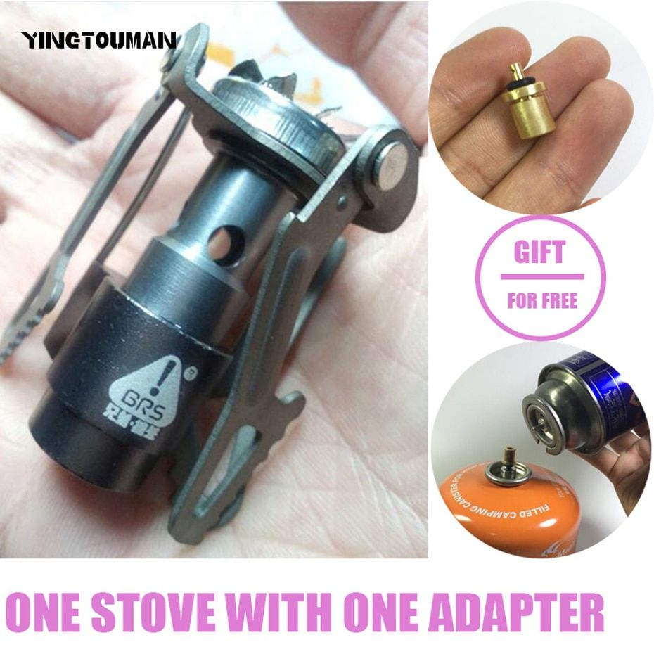 BRS-3000T Ultra-light Titanium Alloy Camping Stove Gas Stoves Outdoor Cooker Outdoor Gas Stove Miniature <font><b>Picnic</b></font> Stoves