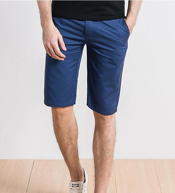2018 summer fashion solid color short men's new slim shorts large size casual shorts