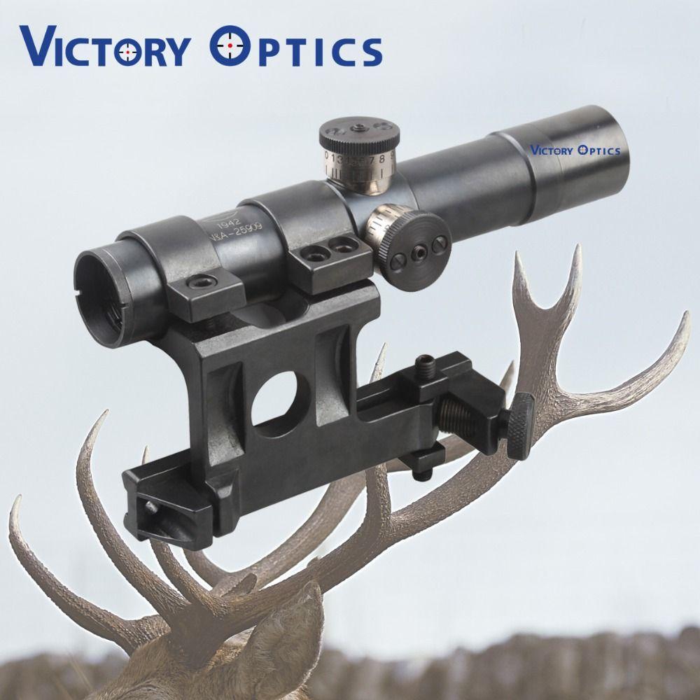 Mosin-Nagant PU 4x20 Steel Riflescope Hunting Rifle Scope with Etched Glass Reticle Crosshair SVT-40 Mosin Nagant Sniper Scope