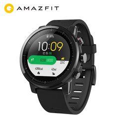 Anglais Version Huami Amazfit Stratos Intelligents Sport Montre 2 GPS 5ATM D'eau 1.34 ''2.5D Écran GPS Firstbeat De Natation Smartwatch