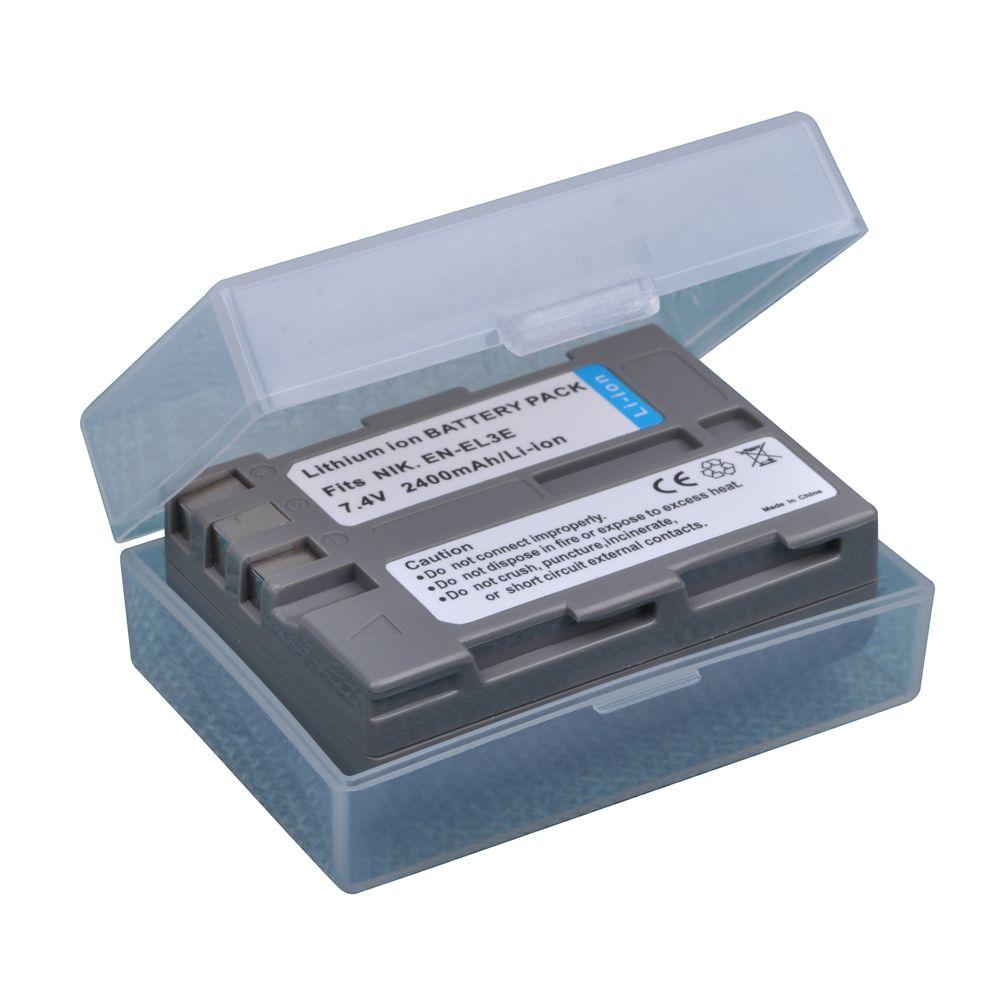 1 pièces 2400mAh EN-EL3e EN EL3e ENEL3e Batteries pour Nikon D30 D50 D70 D70S D90 D80 D100 D200 D300 D300S D700 Appareil Photo Numérique