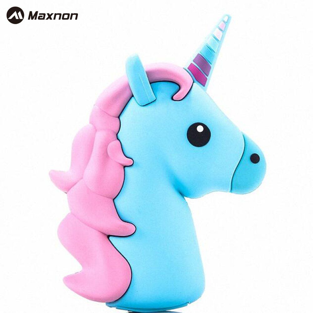 MAXNON Portable Emoji Power Bank Battery case 2000MAH Charger Unicorn Cartoon USB  For Iphone  5S 6 6S 7 7plus Xiaomi Samsung