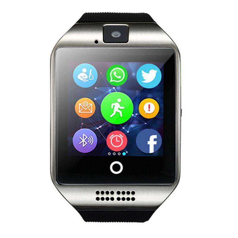Bluetooth Smart часы Q18 с Камера Bluetooth наручные часы для IOS Android Для мужчин Для женщин SmartWatch VS X6 U8 A1 Q18 dz09 gt08 t8