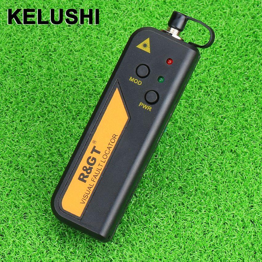 KELUSHI 30 mw Rouge Laser Lumière Fiber Optique Cable Tester Visual Fault Locator également 30 KM Checker