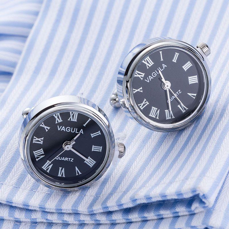 Nouvelle Arrivée Réel Montre boutons de Manchette VAGULA Horloge Manchette liens Avec Batterie tourbill Machine Core Mécanique Gemelos