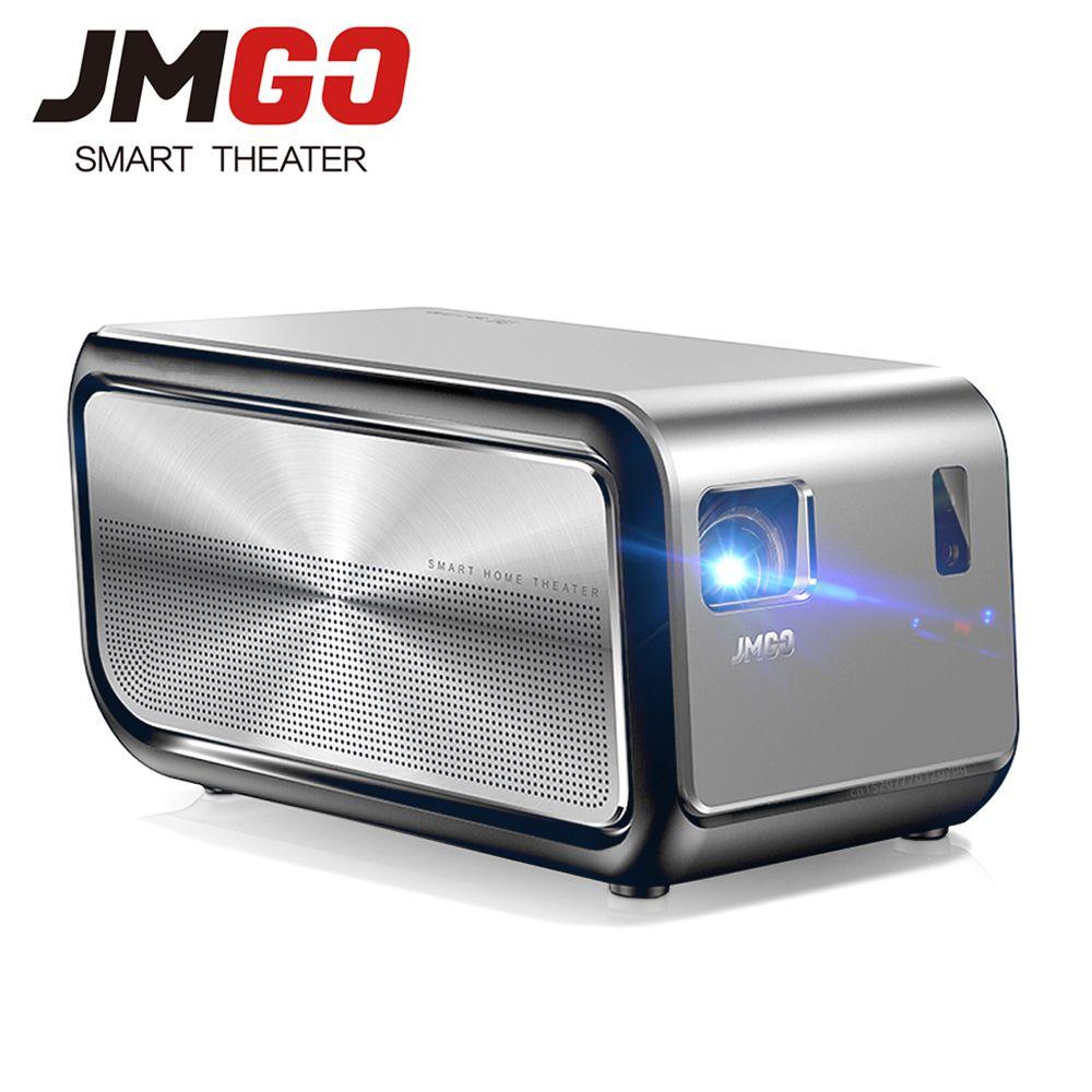 JmGO J6S DLP Projector Android 1100 ANSI Lumen 1080P 1920x1080 WIFI HDMI Bluetooth 3D 4K Video Proyector Home Cinema Beamer