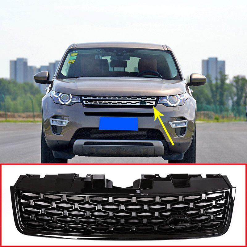 For Land Rover Discovery Sport 2015-2017 ABS Black Main Body Car Front Grilles Mesh Grills Trim Auto Replacement Exterior Parts