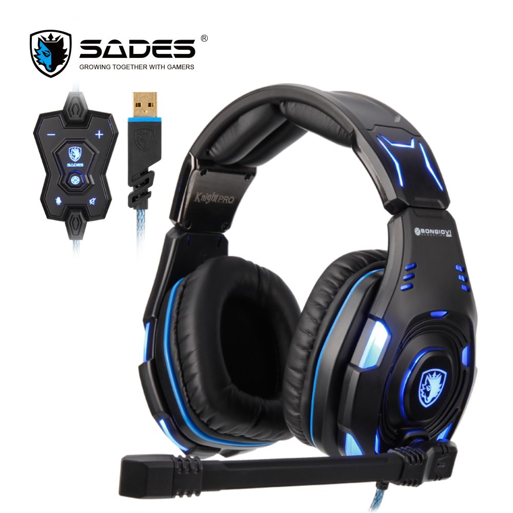 Casque de jeu professionnel SADES Knight Pro casque USB réduction du bruit Audio BONGIOVI