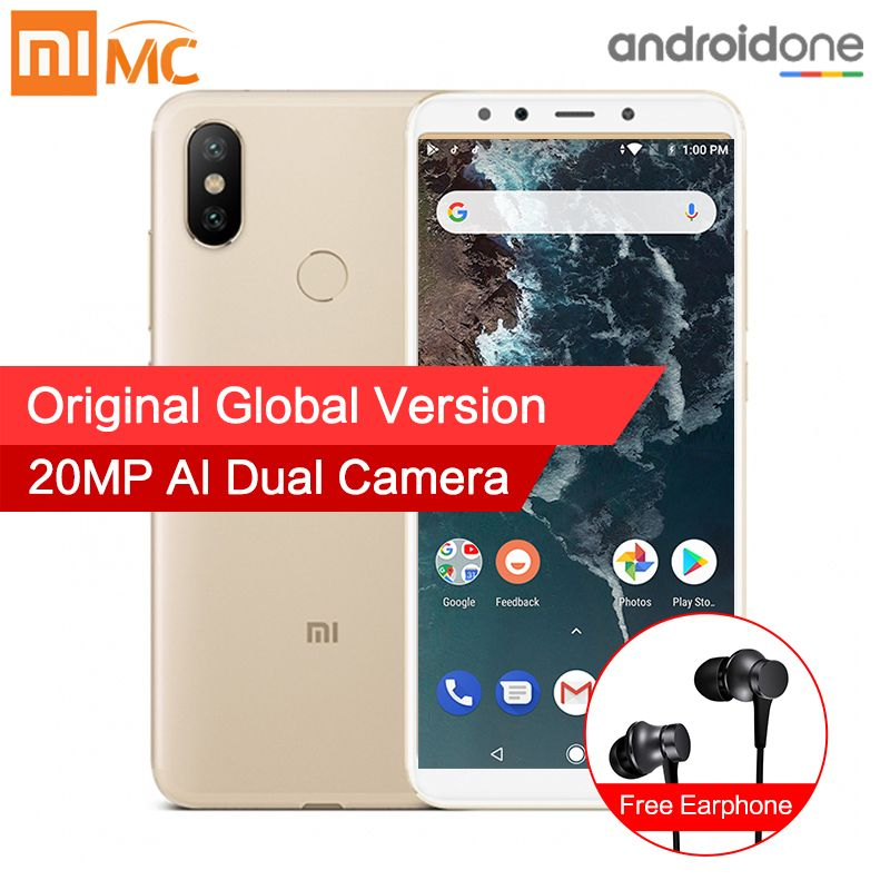 In Stock Global Version Xiaomi Mi A2 6GB 128GB Smartphone 20.0MP AI Dual Camera 5.99