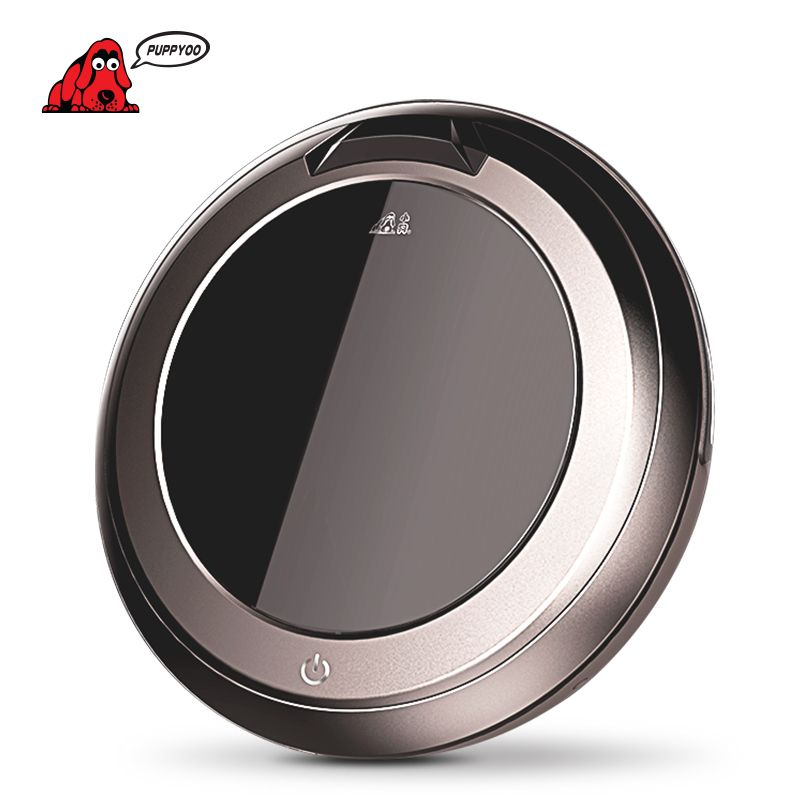 PUPPYOO Multifunctional Intelligent Robotic Vacuum Cleaner Self-Charge Home Appliances Vacuum Remote <font><b>Control</b></font> Side Brush V-M611